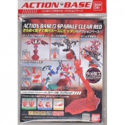 ACTION BASE 2 SPARKLE CLEAR RED 1/144